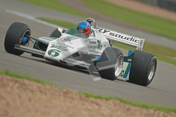© Octane Photographic Ltd. Donington Park testing, May 3rd 2012. Ex-Keke Rosberg Williams FW08, Historic F1. Digital Ref : 0313cb1d7355