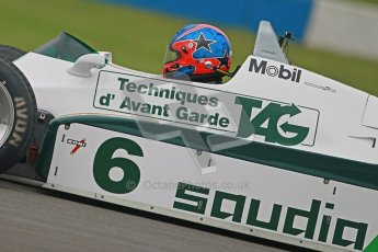 © Octane Photographic Ltd. Donington Park testing, May 3rd 2012. Ex-Keke Rosberg Williams FW08, Historic F1. Digital Ref : 0313cb1d7361