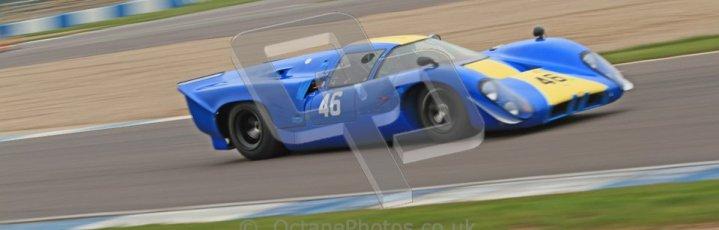 © Octane Photographic Ltd. Donington Park testing, May 3rd 2012. Lola T70. Digital Ref : 0313cb7d9255