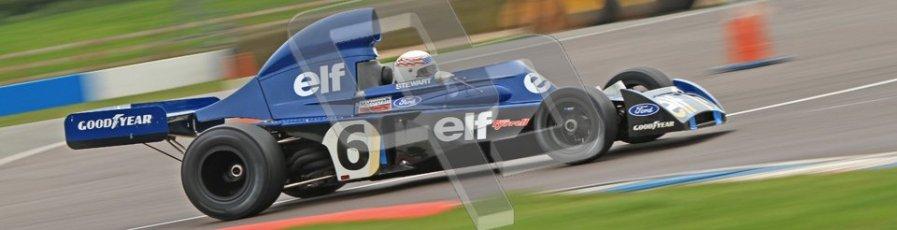 © Octane Photographic Ltd. Donington Park testing, May 3rd 2012. John Delane, ex-Jackie Stewart Tyrrell 006, Historic F1 Championship. Digital Ref : 0313lw7d5970