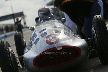 © Octane Photographic Ltd. 2012. Donington Park - General Test Day. Thursday 16th August 2012. 1939 Mercedes W163, Historic F1. Digital Ref : 0458cb1d0334