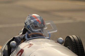 © Octane Photographic Ltd. 2012. Donington Park - General Test Day. Thursday 16th August 2012. 1939 Mercedes W163, Historic F1. Digital Ref : 0458lw7d0103