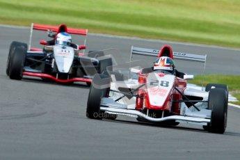 © Octane Photographic Ltd. 2012. Donington Park - General Test Day. Thursday 16th August 2012. Formula Renault BARC. Kieran Vernon - Hillspeed and Michael Epps - JWA-Avila. Digital Ref : 0458ce1d0122
