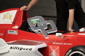 © Octane Photographic Ltd. 2012. Donington Park - General Test Day. Thursday 16th August 2012. Formula Renault BARC. Kieran Vernon - Hillspeed. Digital Ref : 0458lw7d0050