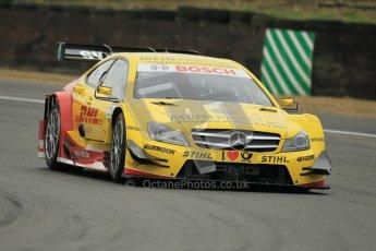 © Octane Photographic Ltd. 2012. DTM – Brands Hatch  - Friday Afternoon Practice. David Coulthard - Mercedes AMG C-Coupe - DHL Paket Mercedes AMG. Digital Ref :