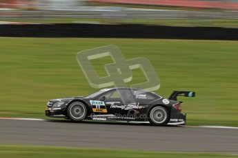© Octane Photographic Ltd. 2012. DTM – Brands Hatch  - Friday Afternoon Practice. Gary Paffett catches some air whilst pushing hard - Mercedes AMG C-Coupe - Thomas Sabo Mercedes AMG. Digital Ref :