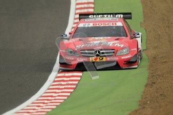 © Octane Photographic Ltd. 2012. DTM – Brands Hatch  - Friday Practice 1. Susie Wolff - TV Spielfilm Mercedes AMG C-Coupe. Digital Ref : 0340cb1d7140