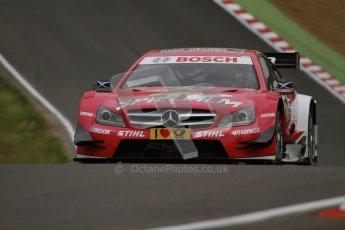 © Octane Photographic Ltd. 2012. DTM – Brands Hatch  - Friday Practice 1. Susie Wolff - TV Spielfilm Mercedes AMG C-Coupe. Digital Ref : 0340lw7d9727