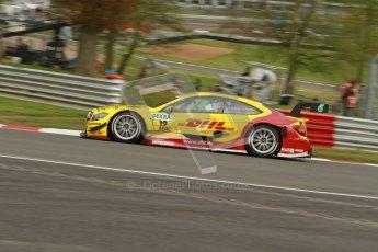 © Octane Photographic Ltd. 2012. DTM – Brands Hatch  - Friday Practice 1. David Coulthard - Mercedes AMG C-Coupe - DHL Paket Mercedes AMG. Digital Ref : 0340lw7d9765