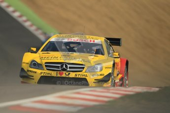 © Octane Photographic Ltd. 2012. DTM – Brands Hatch  - Saturday 19th May 2012. David Coulthard - Mercedes AMG C-Coupe - DHL Paket Mercedes AMG. Digital Ref :