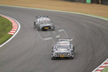 © Octane Photographic Ltd. 2012. DTM – Brands Hatch  - Race. Sunday 20th May 2012. Gary Paffett - Mercedes AMG C-Coupe - Thomas Sabo Mercedes AMG and Bruno Spengler - BMW M3 DTM - BMW Team Schnitzer. Digital Ref :