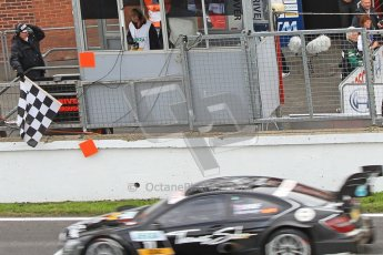 © Octane Photographic Ltd. 2012. DTM – Brands Hatch  - Race. Sunday 20th May 2012. Gary Paffett takes the chequered flag infront of his home fans - Mercedes AMG C-Coupe - Thomas Sabo Mercedes AMG. Digital Ref :