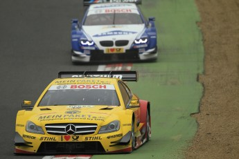 © Octane Photographic Ltd. 2012. DTM – Brands Hatch  - DTM Warm up session. Sunday 20th May 2012. David Coulthard - Mercedes AMG C-Coupe - DHL Paket Mercedes AMG. Digital Ref :