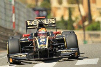 © Octane Photographic Ltd. 2012. F1 Monte Carlo - GP2 Practice 1. Thursday  24th May 2012. James Calado - Lotus GP. Digital Ref : 0353cb1d0696