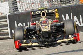 © Octane Photographic Ltd. 2012. F1 Monte Carlo - Qualifying - Session 2. Saturday 26th May 2012. Romain Grosjean - Lotus. Digital Ref : 0355cb1d6698