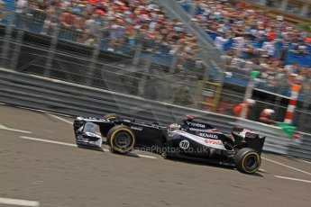 © Octane Photographic Ltd. 2012. F1 Monte Carlo - Qualifying - Session 1. Saturday 26th May 2012. Pastor Maldonado - Williams. Digital Ref : 0355cb7d8781