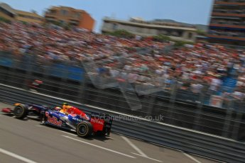 © Octane Photographic Ltd. 2012. F1 Monte Carlo - Qualifying - Session 1. Saturday 26th May 2012. Mark Webber - Red Bull. Digital Ref : 0355cb7d8817