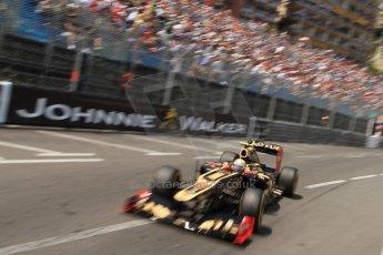 © Octane Photographic Ltd. 2012. F1 Monte Carlo - Qualifying - Session 2. Saturday 26th May 2012. Romain Grosjean - Lotus. Digital Ref : 0355cb7d8909