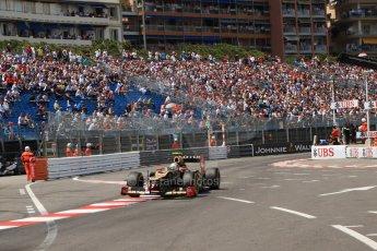 © Octane Photographic Ltd. 2012. F1 Monte Carlo - Qualifying - Session 2. Saturday 26th May 2012. Romain Grosjean - Lotus. Digital Ref : 0355cb7d8923