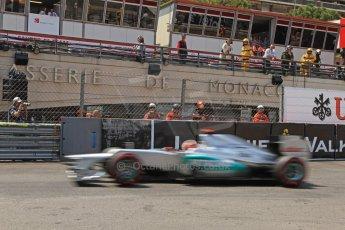 © Octane Photographic Ltd. 2012. F1 Monte Carlo - Qualifying - Session 2. Saturday 26th May 2012. Michael Schumacher - Mercedes. Digital Ref : 0355cb7d8946
