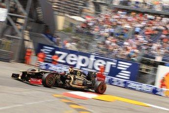 © Octane Photographic Ltd. 2012. F1 Monte Carlo - Qualifying - Session 2. Saturday 26th May 2012. Kimi Raikkonen - Lotus. Digital Ref : 0355cb7d8967