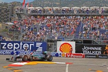 © Octane Photographic Ltd. 2012. F1 Monte Carlo - Qualifying - Session 2. Saturday 26th May 2012. Michael Schumacher - Mercedes. Digital Ref : 0355cb7d9024