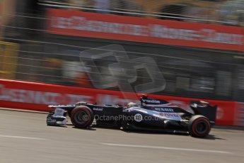 © Octane Photographic Ltd. 2012. F1 Monte Carlo - Qualifying - Session 3. Saturday 26th May 2012. Pastor Maldonado - Williams. Digital Ref : 0355cb7d9056
