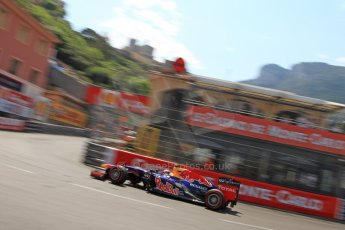 © Octane Photographic Ltd. 2012. F1 Monte Carlo - Qualifying - Session 3. Saturday 26th May 2012. Mark Webber - Red Bull. Digital Ref : 0355cb7d9069