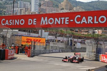 © Octane Photographic Ltd. 2012. F1 Monte Carlo - Qualifying - Session 3. Saturday 26th May 2012. Lewis Hamilton - McLaren. Digital Ref : 0355cb7d9105