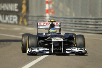 © Octane Photographic Ltd. 2012.  F1 Monte Carlo - Practice 1. Thursday  24th May 2012. Bruno Senna - Williams. Digital Ref : 0350cb1d0145