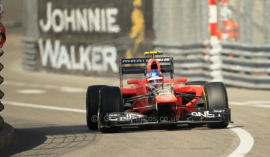 © Octane Photographic Ltd. 2012. F1 Monte Carlo - Practice 1. Thursday  24th May 2012. Chalres Pic - Marussia. Digital Ref : 0350cb1d0193