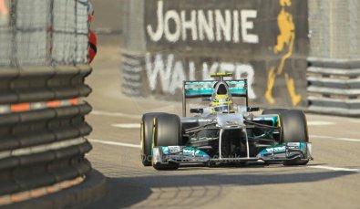 © Octane Photographic Ltd. 2012.  F1 Monte Carlo - Practice 1. Thursday  24th May 2012. Nico Rosberg - Mercedes. Digital Ref : 0350cb1d0211