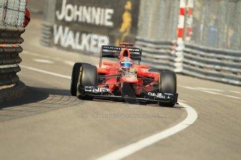 © Octane Photographic Ltd. 2012. F1 Monte Carlo - Practice 1. Thursday  24th May 2012. Timo Glock - Marussia. Digital Ref : 0350cb1d0378