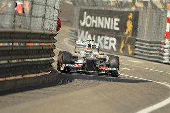© Octane Photographic Ltd. 2012.  F1 Monte Carlo - Practice 1. Thursday  24th May 2012. Sergio Perez - Sauber. Digital Ref : 0350cb1d0388