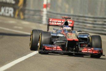 © Octane Photographic Ltd. 2012. F1 Monte Carlo - Practice 1. Thursday  24th May 2012. Jenson Button - McLaren. Digital Ref : 0350cb1d0397