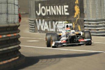 © Octane Photographic Ltd. 2012.  F1 Monte Carlo - Practice 1. Thursday  24th May 2012. Sergio Perez - Sauber. Digital Ref : 0350cb1d0416
