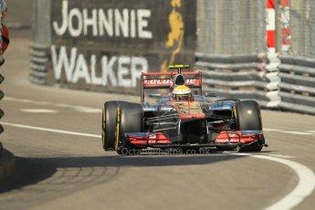 © Octane Photographic Ltd. 2012.  F1 Monte Carlo - Practice 1. Thursday  24th May 2012. Lewis Hamilton - McLaren. Digital Ref : 0350cb1d0449