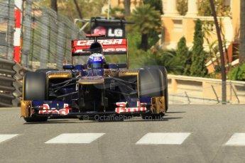 © Octane Photographic Ltd. 2012. F1 Monte Carlo - Practice 1. Thursday  24th May 2012. Daniel Ricciardo - Toro Rosso. Digital Ref : 0350cb1d0466
