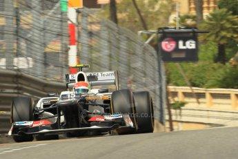 © Octane Photographic Ltd. 2012. F1 Monte Carlo - Practice 1. Thursday  24th May 2012. Sergio Perez - Sauber. Digital Ref : 0350cb1d0492