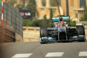 © Octane Photographic Ltd. 2012. F1 Monte Carlo - Practice 1. Thursday  24th May 2012. Michael Schumacher - Mercedes. Digital Ref : 0350cb1d0559