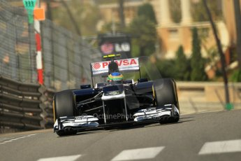 © Octane Photographic Ltd. 2012. F1 Monte Carlo - Practice 1. Thursday  24th May 2012. Bruno Senna - Williams. Digital Ref : 0350cb1d0577