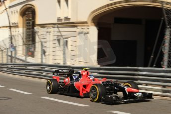 © Octane Photographic Ltd. 2012. F1 Monte Carlo - Practice 1. Thursday  24th May 2012. Charles Pic - Marussia. Digital Ref : 0350cb7d7447