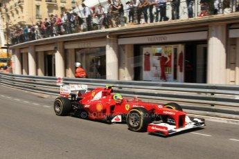© Octane Photographic Ltd. 2012. F1 Monte Carlo - Practice 1. Thursday  24th May 2012. Felipe Massa - Ferrari. Digital Ref : 0350cb7d7478