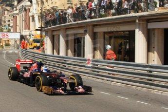 © Octane Photographic Ltd. 2012. F1 Monte Carlo - Practice 1. Thursday  24th May 2012. Jean-Eric Vergne - Toro Rosso. Digital Ref : 0350cb7d7482