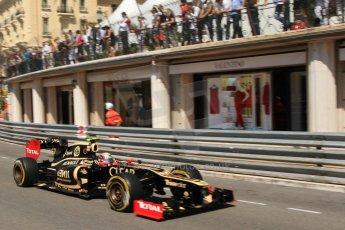 © Octane Photographic Ltd. 2012. F1 Monte Carlo - Practice 1. Thursday  24th May 2012. Romain Grosjean - Lotus. Digital Ref : 0350cb7d7488