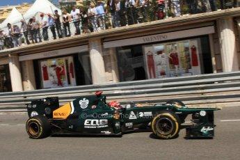 © Octane Photographic Ltd. 2012. F1 Monte Carlo - Practice 1. Thursday  24th May 2012. Heikki Kovalainen - Caterham. Digital Ref : 0350cb7d7547
