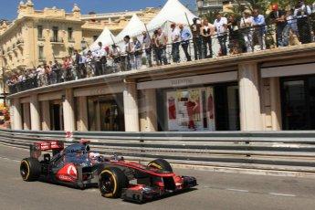 © Octane Photographic Ltd. 2012. F1 Monte Carlo - Practice 1. Thursday  24th May 2012. Jenson Button - McLaren. Digital Ref : 0350cb7d7558