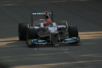 © 2012 Octane Photographic Ltd. Italian GP Monza - Friday 7th September 2012 - F1 Practice 1. Mercedes W03 - Michael Schumacher. Digital Ref : 0504cb7d1977