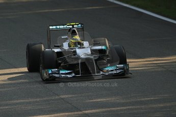 © 2012 Octane Photographic Ltd. Italian GP Monza - Friday 7th September 2012 - F1 Practice 1. Mercedes W03 - Nico Rosberg. Digital Ref : 0504cb7d1981