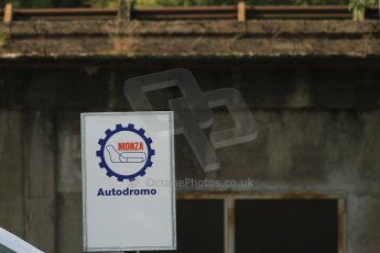 © 2012 Octane Photographic Ltd. Italian GP Monza - Friday 7th September 2012 - F1 Practice 1. Monza sign and old banking. Digital Ref : 0504cb7d1989